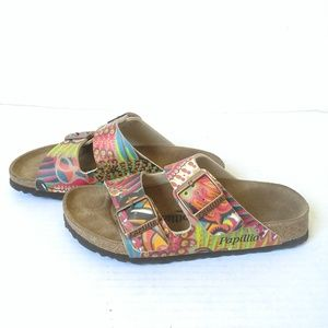 Papillio two strap slide sandals butterfly floral